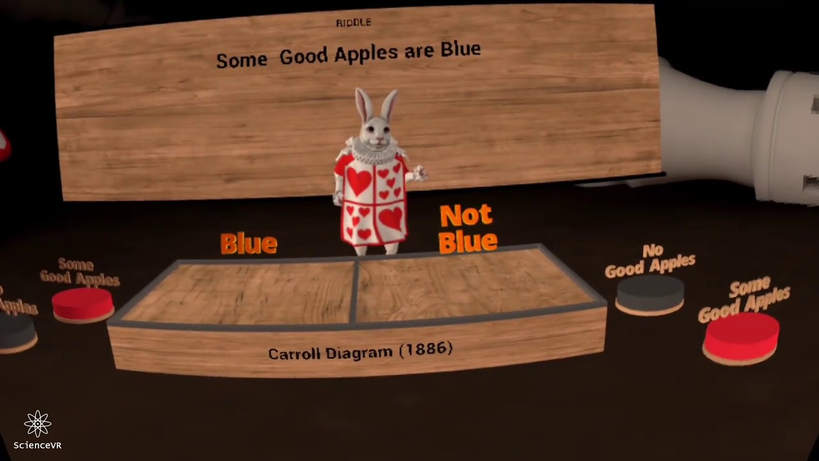 Carroll's Riddles on Oculus Quest + Hand Tracking