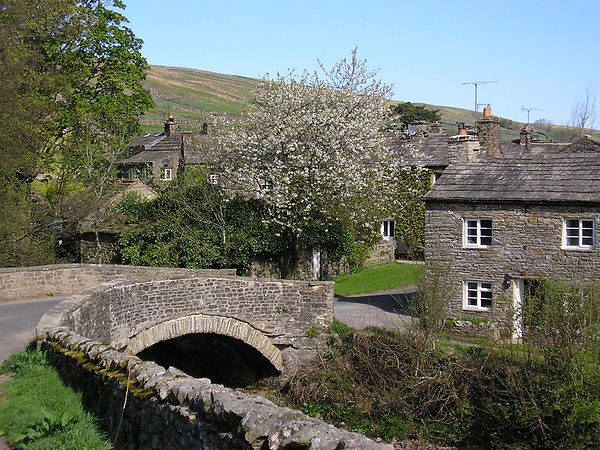 the bridge at Thwaite in Swaledale near Thwaitedale Cottages in the Yorkshire dales