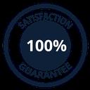 100% Satisfaction Guarantee - Blue
