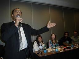 Jomateleno Teixeira palestrando na 4ª Conferência do Meio Ambiente