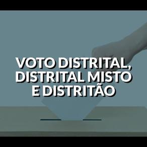 Voto Distrital, Distrital Misto e Distritão