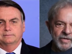 Bolsonaro e Lula cantando juntos