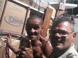 Sebastião, o catador mineiro que tem orgulho de fazer o que faz, visivelmente feliz