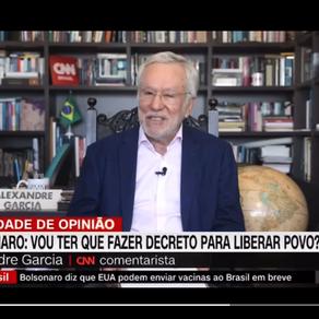Alexandre Garcia pode ter pedido demissão ao vivo na CNN