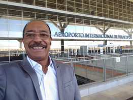 Jomateleno embarcando para Brasília