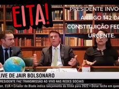 Em live, Bolsonaro, de forma inteligente, convoca população