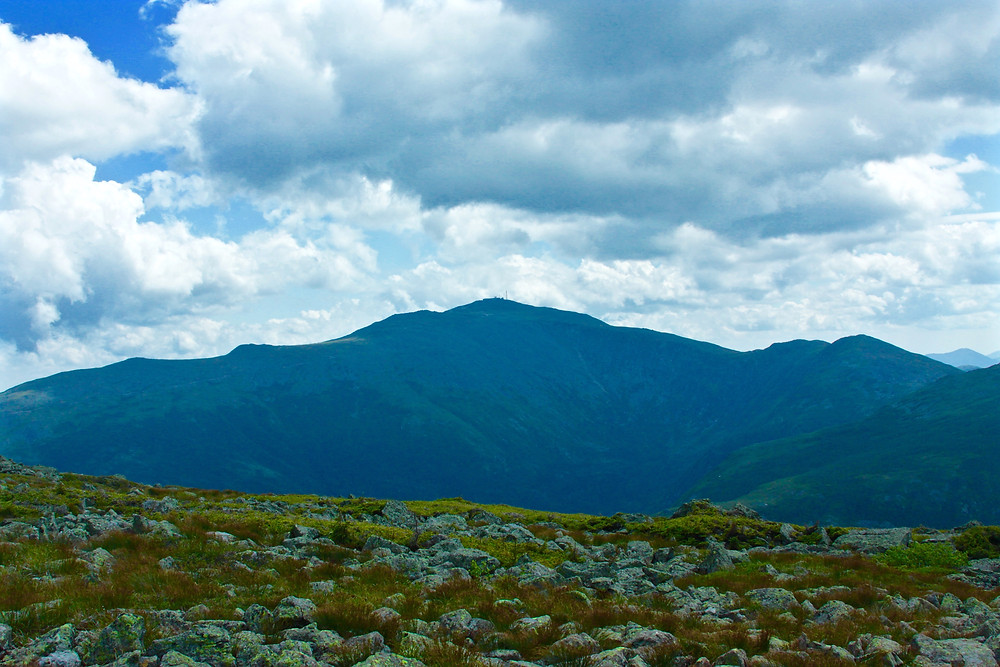 A distant Mount Washington From The AT