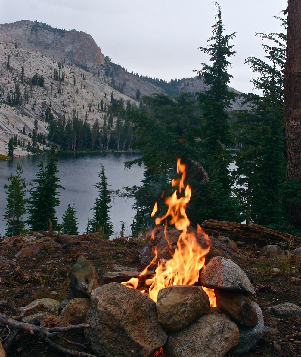 Fire in camp