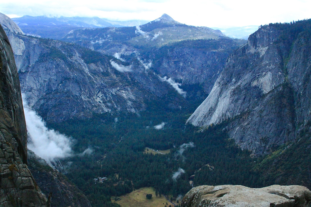 The view from above Yosemite Falls