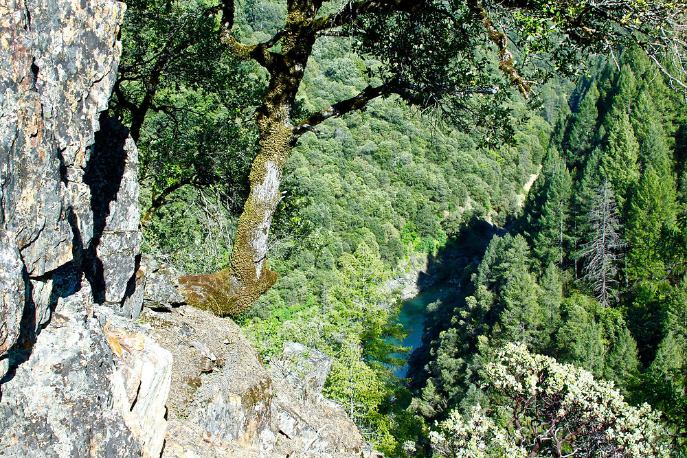 Soaring View Of South Yuba River From The Trail