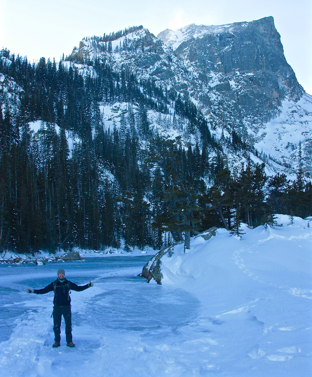 Winter hiking in Rocky Mountain