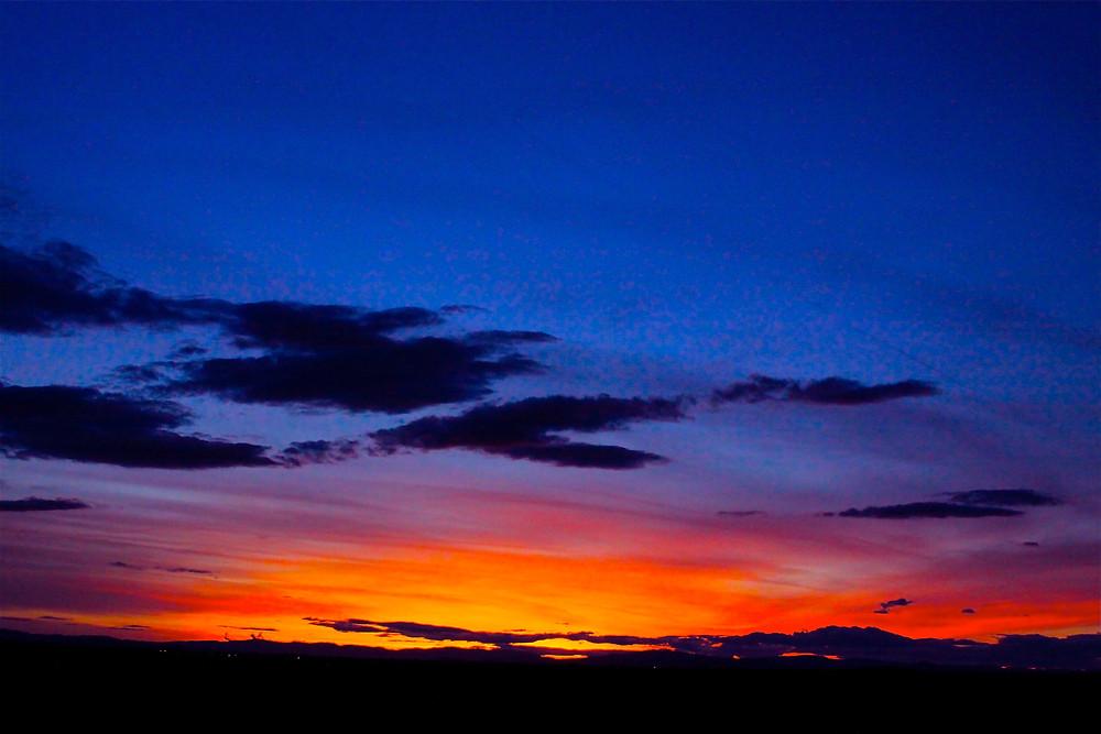 A wilderness sunset