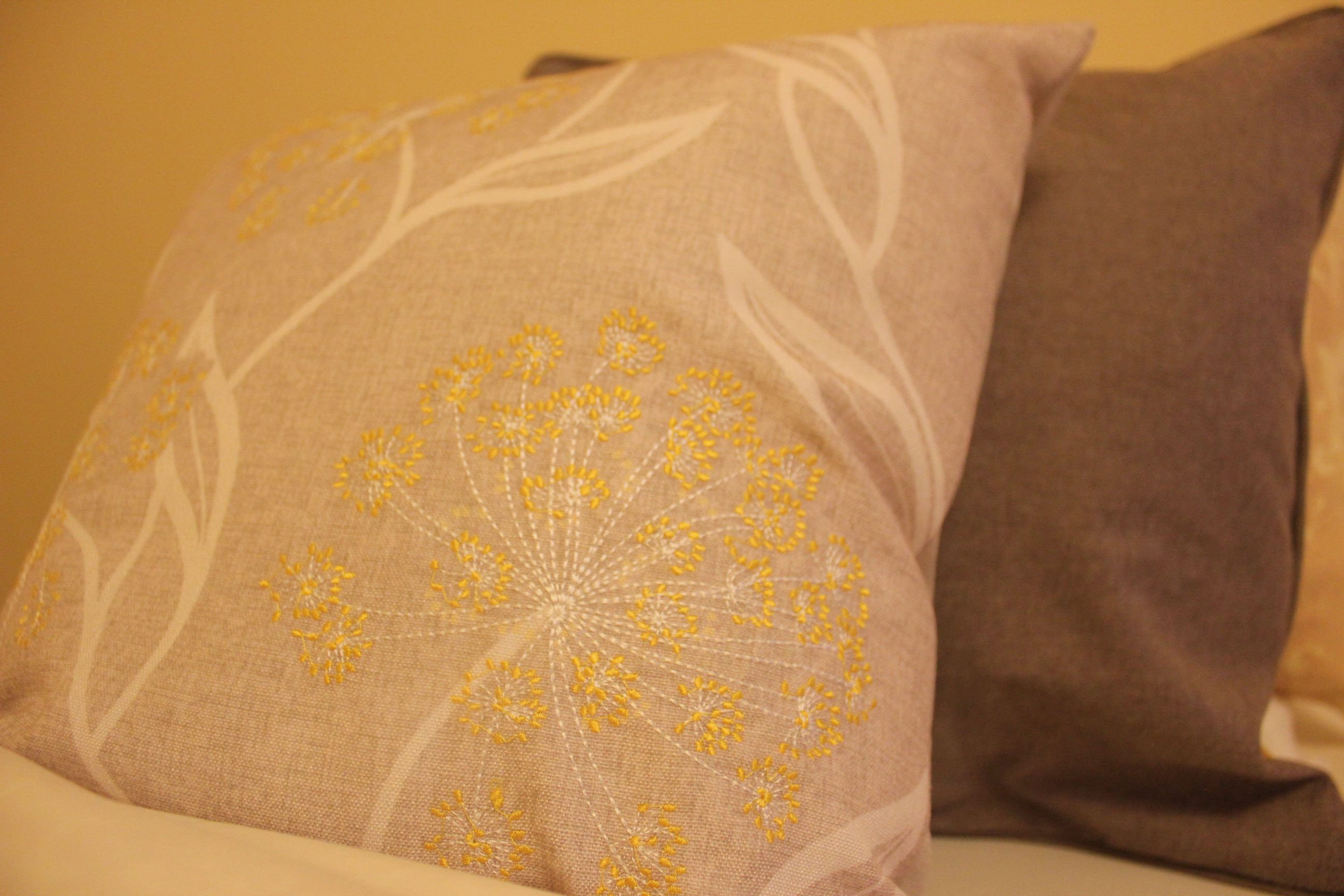 Lovely furnishings- grey & gold