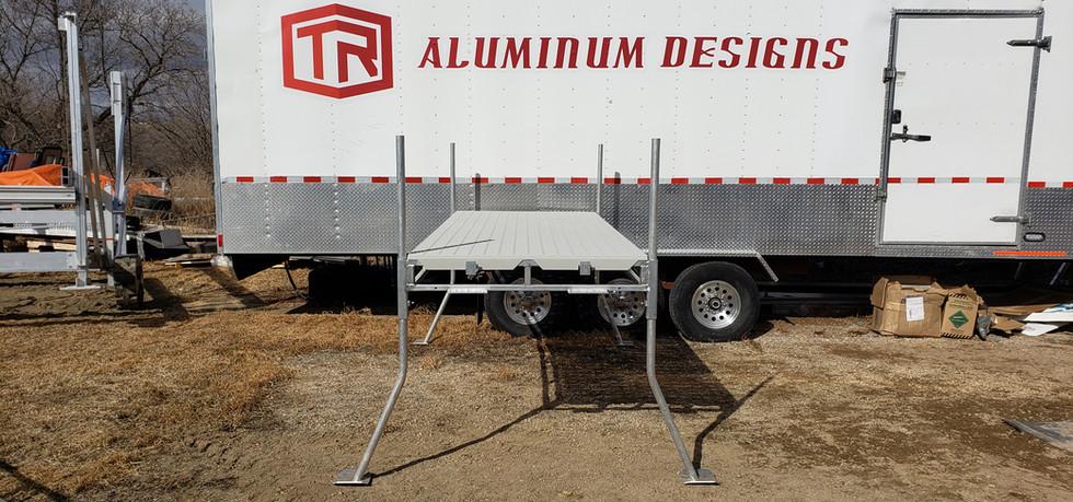 4'x10' Aluminum Dock