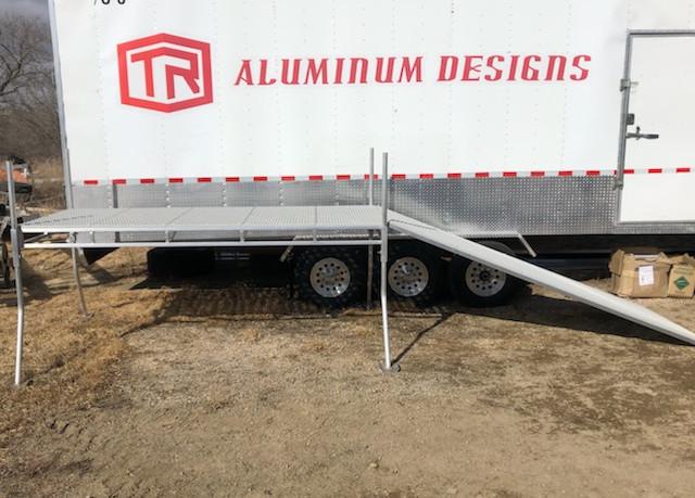 4'x10' Aluminum Dock with Ramp