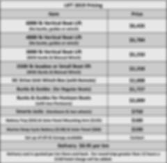 2019 Seadoo/ Boat Lift Pricing