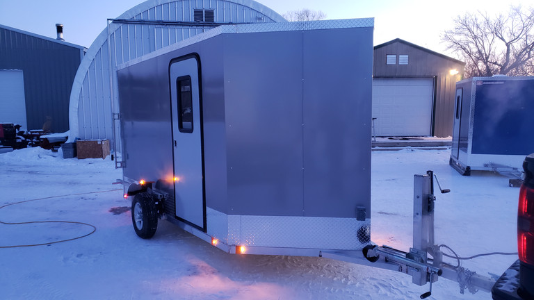 Drop Down Axle Ice Shack