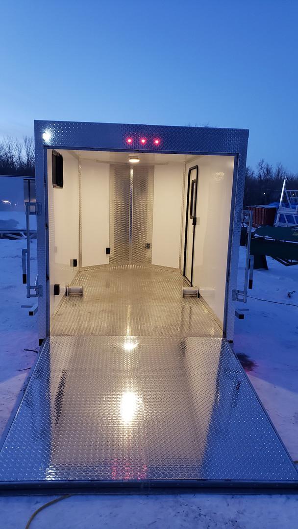 Drop Down Axle Ice Shack Interior