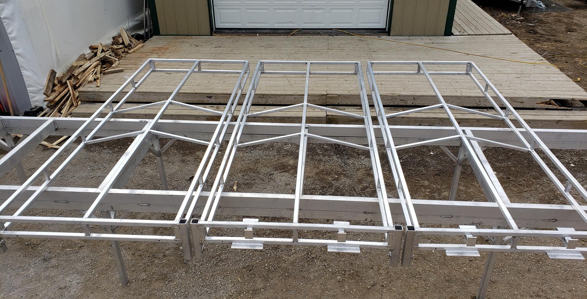 4'x10' Aluminum Dock Frames