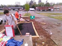 Hatachi finishes building Gordan White Park raised beds_