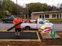Hatachi preparing garden bed_