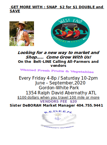 Farmers Market 2020 Flyer