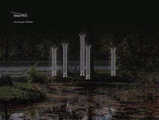 Световые инсталляции в зоне искусств