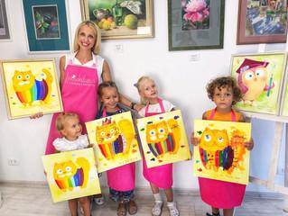 Мастер-класс по живописи в детской зоне