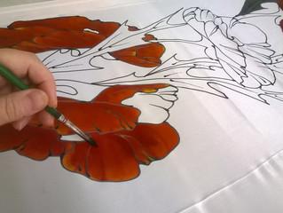Роспись по батику в зоне искусств