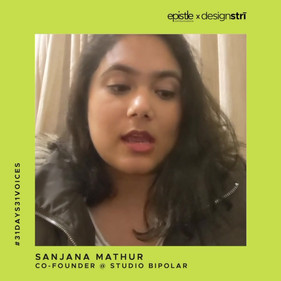 Sanjana Mathur on letting her work do the talking when faced with gender bias.