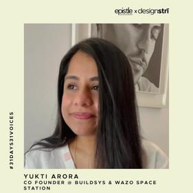 Yukti Arora on choosing her calling in life.