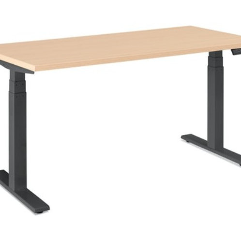 "Netflix Poppin Series L Adjustable Height Desk, 57"" W"