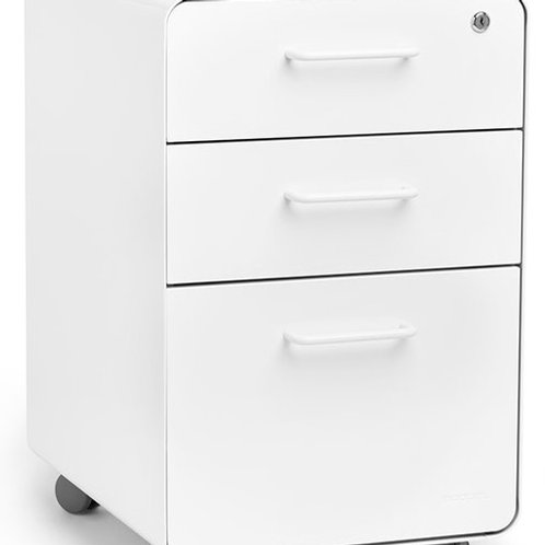 Netflix Poppin Stow 3-drawer file cabinet, rolling