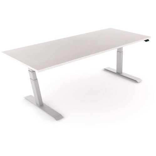 PG&E  Workrite Height Adj table -white/silver