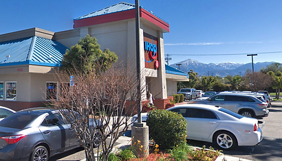 IHOP building and parking lot