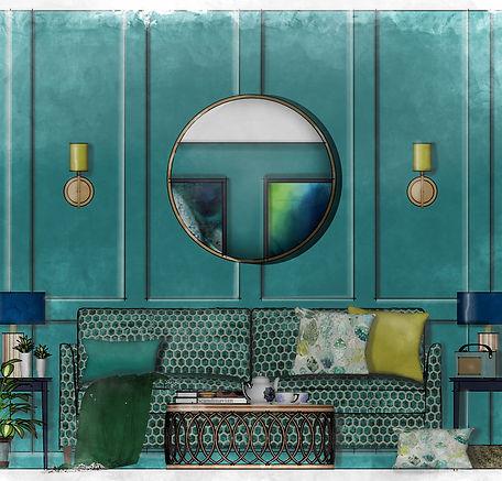 Sketch Up illustration, living room elevation