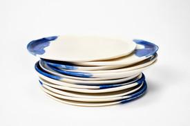 Assiettes ultra plates - Porcelaine - Collection Nébuleuses