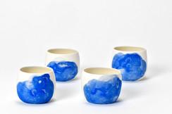 Petits bols à thé ventrus - Porcelaine - Collection Nébuleuses