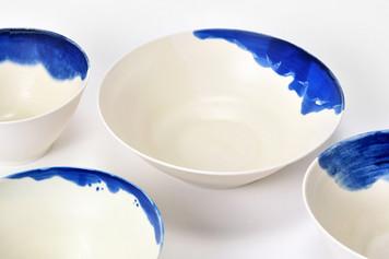 Saladiers et grandes coupelles - Porcelaine - Collection Nébuleuses