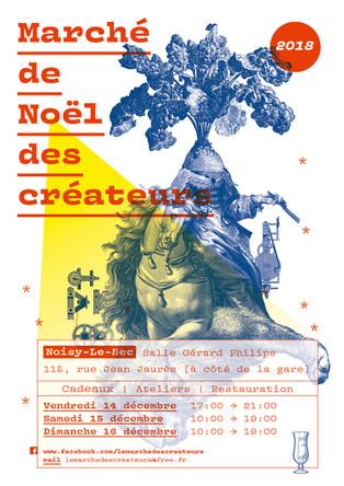 Expo-vente Noël 2018 - Marché Créateurs Noisy-le-sec (93).
