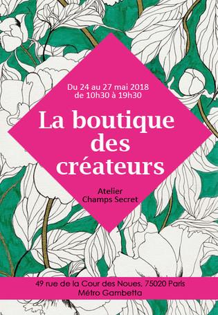 EXPO-VENTE créateurs à l'Atelier Champs Secret - Paris