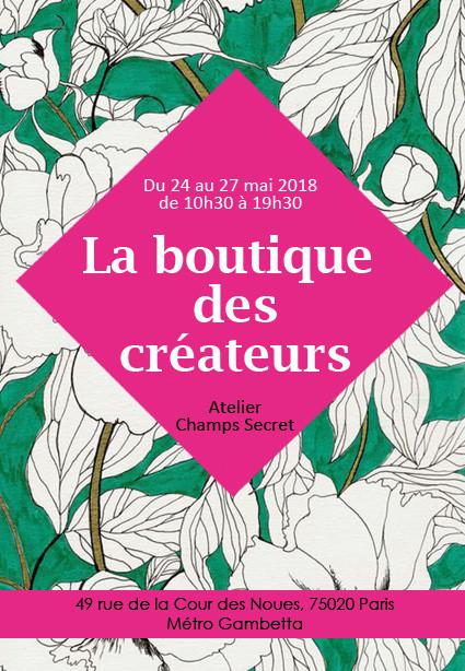 Boutique de  créateurs Atelier Champs Secret Paris