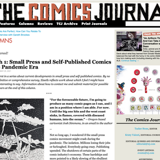 Mention in The Comics Journal by Paul Tumey