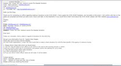 Email Correspondance