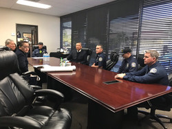 Meeting with Vetura Fire Department Staff