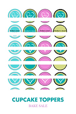 Cupcake toppers Mother's Heart