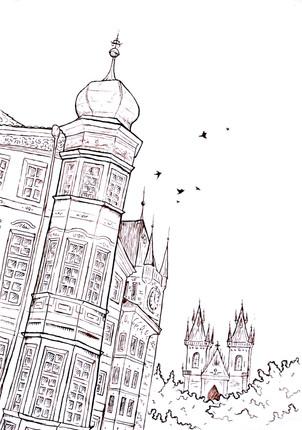 Prague Ink Sketch
