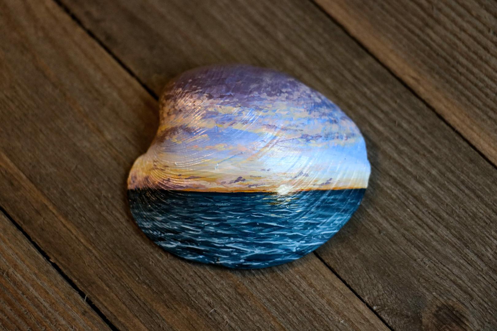 Sunset Seashell Scene