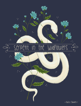 Serpent in the Wildflowers - Cover Illustration