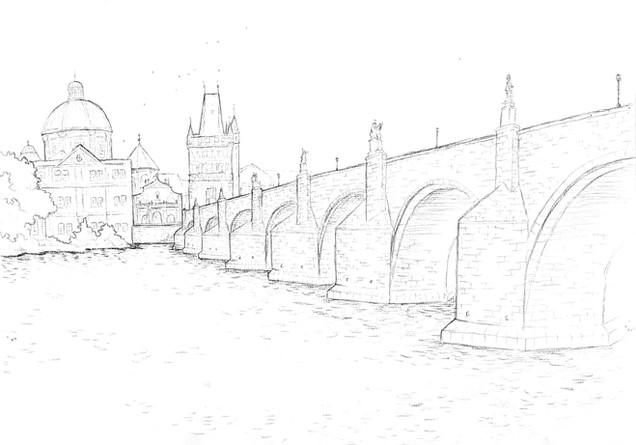 Charles Bridge Sketch
